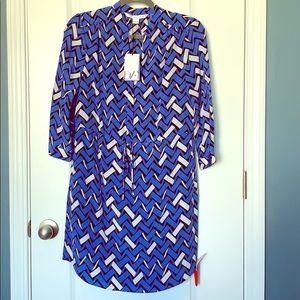 Diane Von Furstenberg 3/4 sleeve silk dress